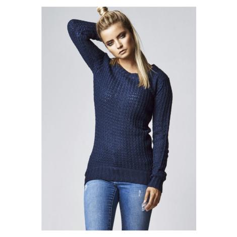 Ladies Long Wideneck Sweater - navy Urban Classics