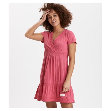 Šaty Odd Molly Step Over Dress - Růžová