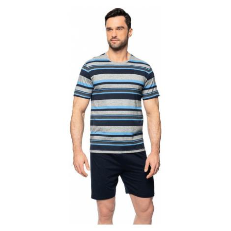 Krátké pánské pyžamo Petr šedé Rossli