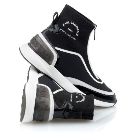 Kotníková Obuv Karl Lagerfeld Finesse Legere Zip Boot - Černá