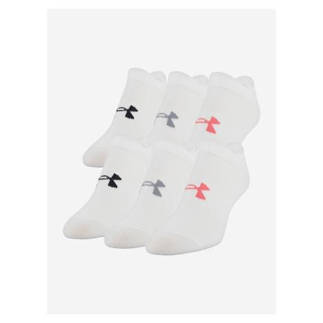 Essential Ponožky 6 párů Under Armour Bílá