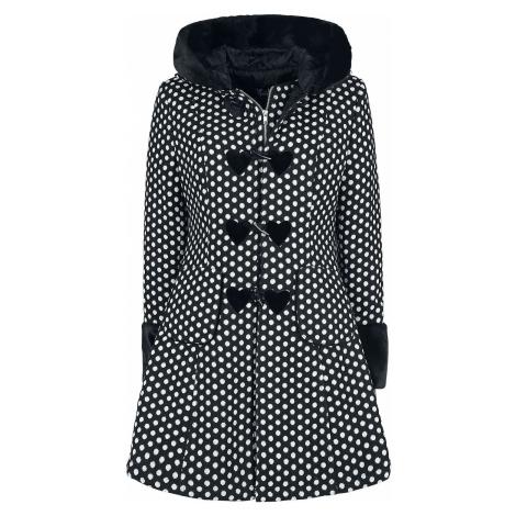 Hell Bunny Amelia Coat Dívcí kabát cerná/bílá
