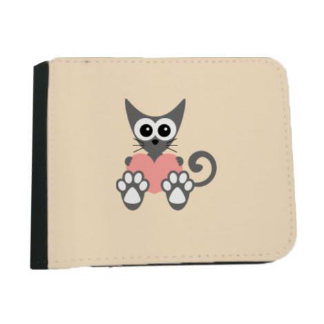 Pánská peněženka Kočka a srdce
