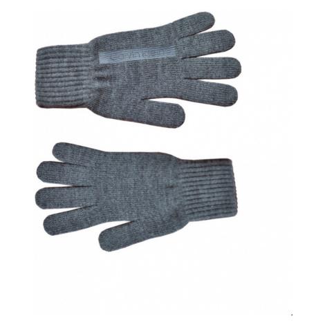 Calvin Klein Calvin Klein pánské pletené šedé rukavice KNITTED GLOVES