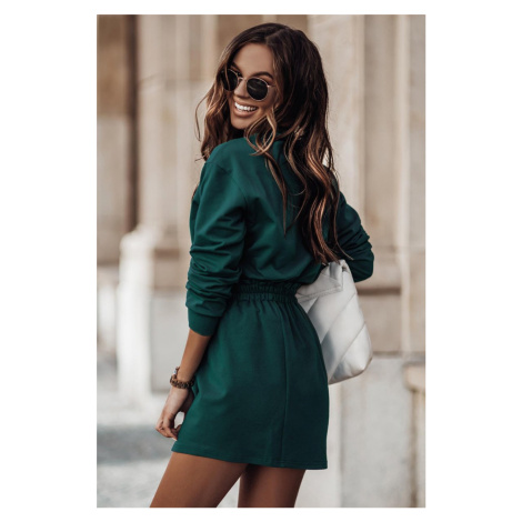 Zelený komplet top + sukně Dolly IVON