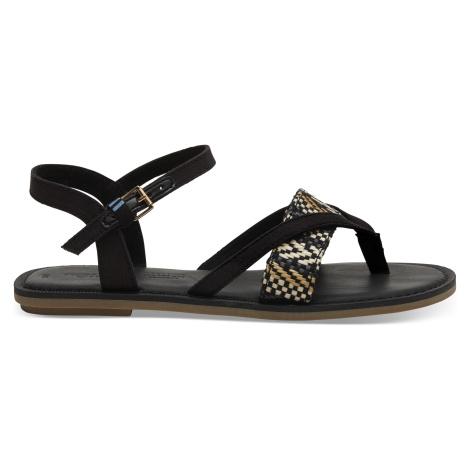 Black GeometricWoven Women Lexie Sandal Toms