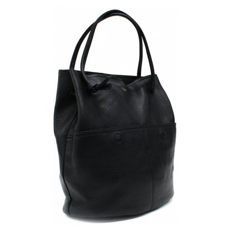 Černá prostorná dámská kabelka ve tvaru vaku Lacyann Mahel