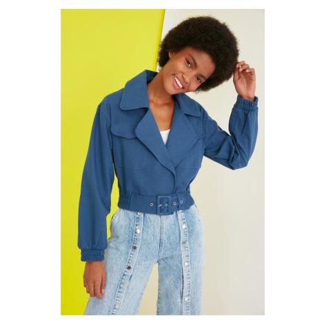 Trendyol Indigo Belt Jacket