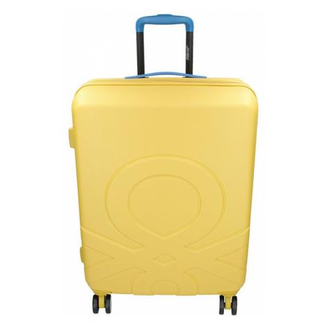 Cestovní kufr United Colors of Benetton Kanes M - žlutá 74l