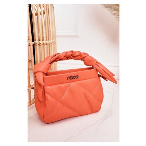 Small Quilted Purse On A Chain NOBO NBAG-K1330 Peach Kesi