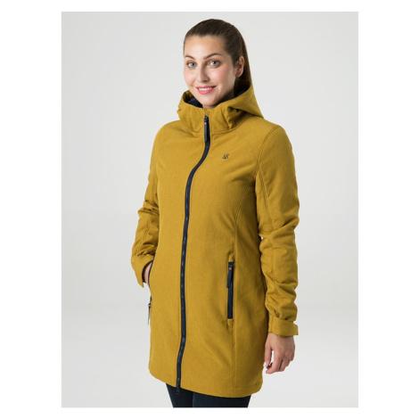 LECIKA women's softshell coat yellow LOAP