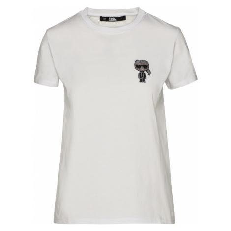 Tričko Karl Lagerfeld Ikonik Mini Karl Rs T-Shirt - Bílá