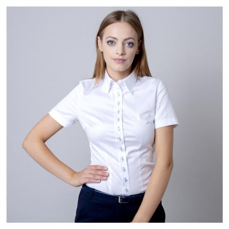Dámská košile bílá se světle modrými kontrastními prvky 11733 Willsoor