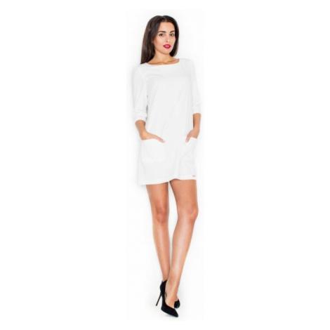 Dámské šaty Katrus K316 krémové | krémová