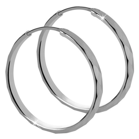 Brilio Silver Stříbrné náušnice kruhy 431 158 00035 04