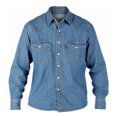 DUKE košile džínová pánská Western Style Denim shirt nadměrná velikost