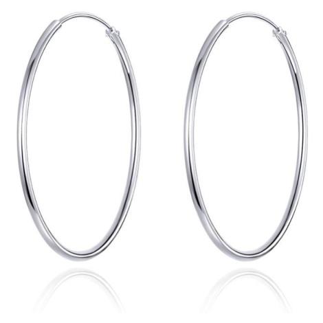Linda's Jewelry Stříbrné náušnice Kruhy Střední Simple Ag 925/1000 IN169