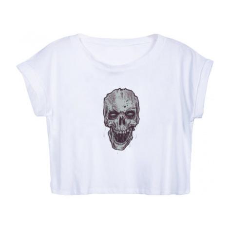 Dámské tričko Organic Crop Top Lebka