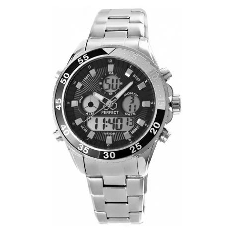 Pánské hodinky Perfect A880-1 Dual Time Hodinky s osvětlením