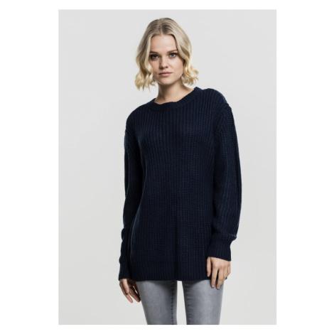 Ladies Basic Crew Sweater - navy Urban Classics