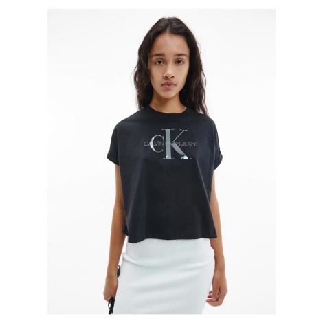 Calvin Klein Calvin Klein Jeans dámské černé tričko TONAL MONOGRAM TEE