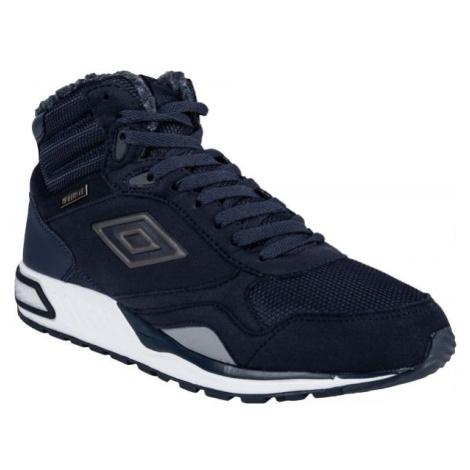 Umbro REDHILL HIGH W PROOF tmavě modrá - Pánská volnočasová obuv