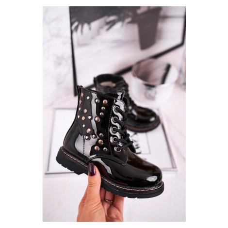 Children's Insulated Boots Shiny Black Fame Kesi
