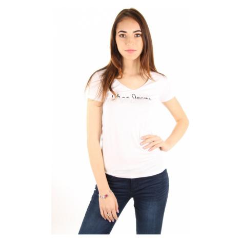 Pepe Jeans dámské bílé tričko Bobie