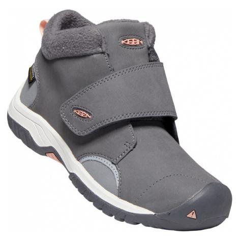 KEEN KOOTENAY III MID WP C Dětská zimní obuv 10007933KEN01 steel grey/dusty pink