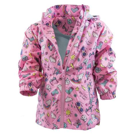 dívčí jarní/podzimní bunda s potiskem a kapucí, Pidilidi, PD1092, růžová