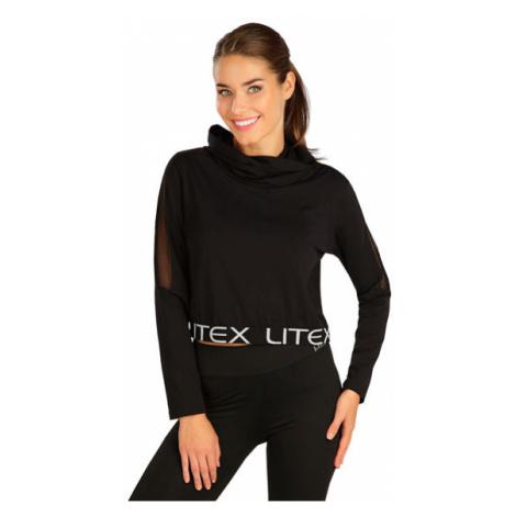 Dámské crop top tričko Litex 5B362   černá