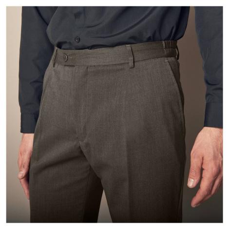 Blancheporte Kalhoty s vysokým pasem, bez záševků, polyvlna bronzová