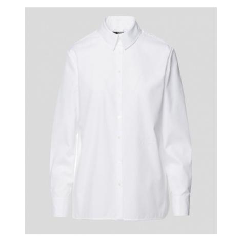Košile Karl Lagerfeld Embellished Poplin Shirt - Bílá