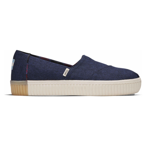 NAVY CROSSHATCH WM ALIN SLIPON Toms