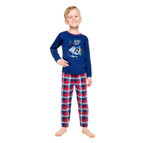 Klučičí pyžamo Leo tmavě modré Taro