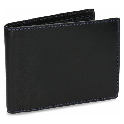 Kožená peněženka s modrým prošitím Baťa