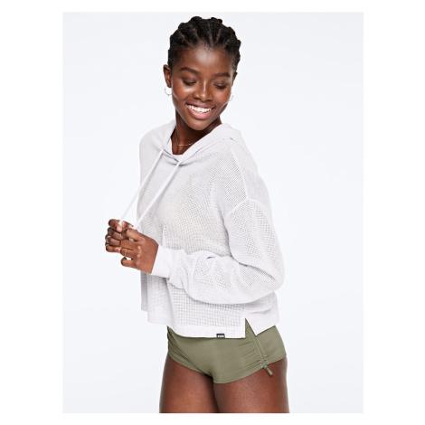 Victoria's Secret PINK svetr s dírkami / bílý