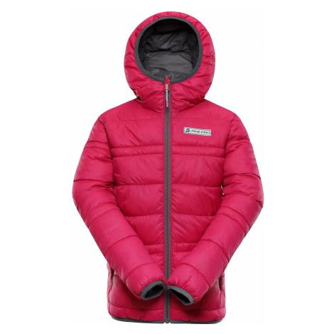 Dětská zimní oboustranná bunda Alpine Pro SELMO - růžová