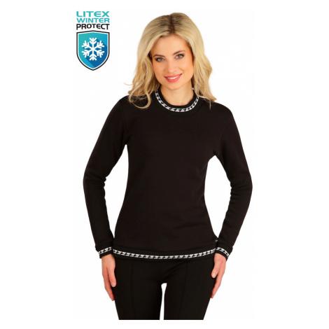 LITEX 7B091 Mikina dámská s dlouhým rukávem černá