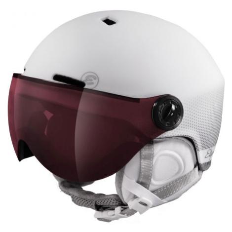 Etape CORTINA PRO bílá - Dámská lyžařská přilba s visorem