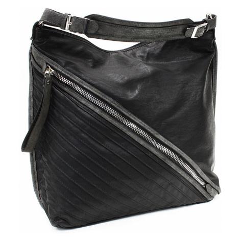 Černošedá dámská praktická kabelka přes rameno Marielle Tapple