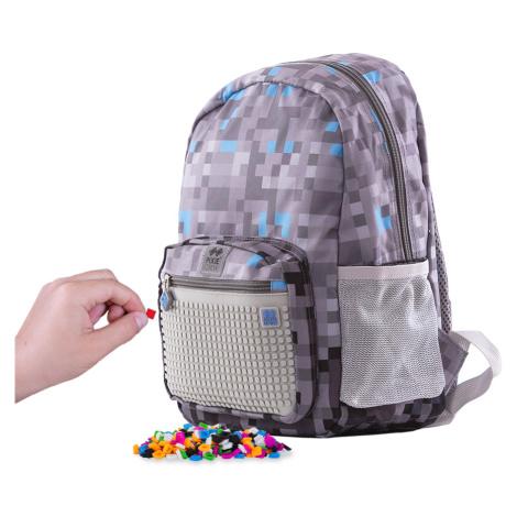 PIXIE CREW dětský batoh MINECRAFT šedo-modrý