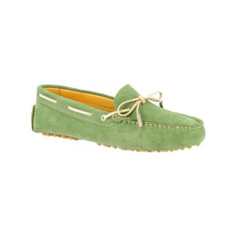 Leonardo Shoes 502 CAMOSCIO MENTA Zelená