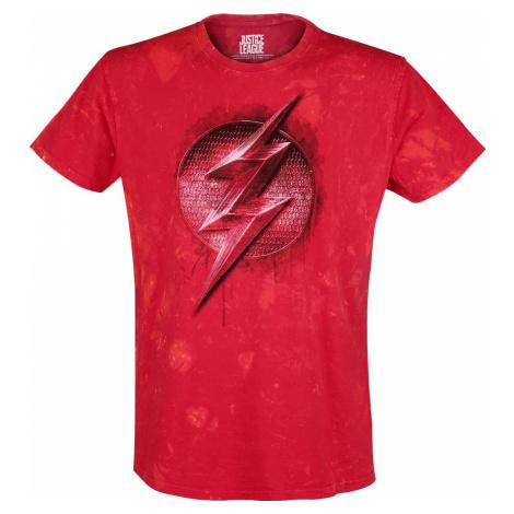 The Flash Shining Logo Tričko červená