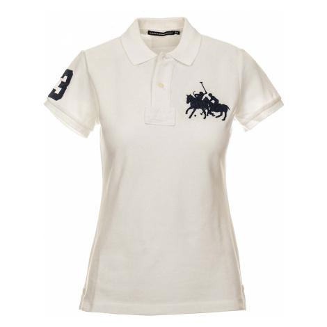 Ralph Lauren dámské polo tričko bílé s výšivkou