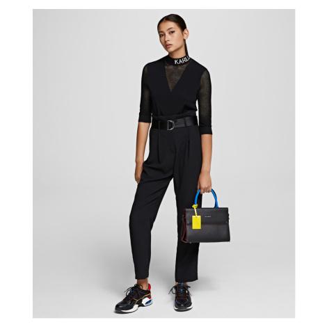 Kalhoty Karl Lagerfeld Casual High-Waist Pants - Černá