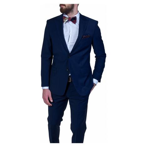 Modrý Slim Fit oblek Alain Delon
