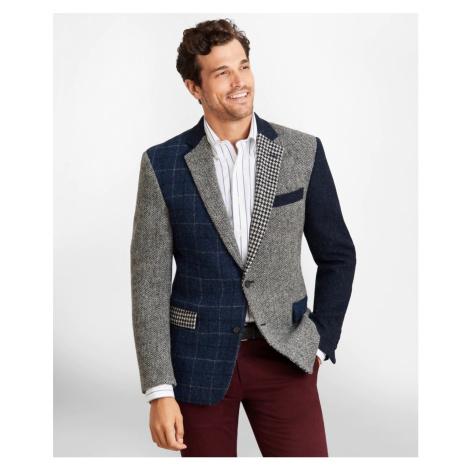 Sako Brooks Brothers Regent Fit Harris Tweed Mixed Pattern Sport Coat - Šedá