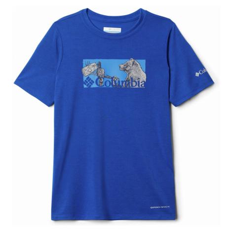 Columbia Ranco Lake hort leeve Tee Boys Blue