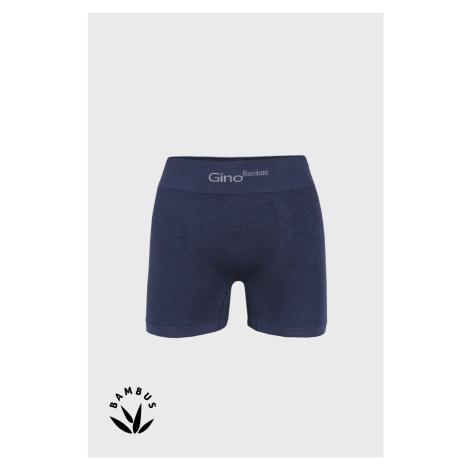 Modré bambusové boxerky s delší nohavičkou GINO